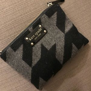 Kate Spade Grey and Black Purse Pouch